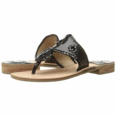 ジャックロジャース Jack Rogers レディース ビーチサンダル フラット シューズ・靴 Jacks Flat Sandal Black/Black Patent
