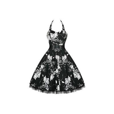 ハーツアンドローズロンドン ドレス ワンピース ハートs And ローズs London フローラル 50s Rockabilly ピンナップ パーティ Swing Prom ドレス UK