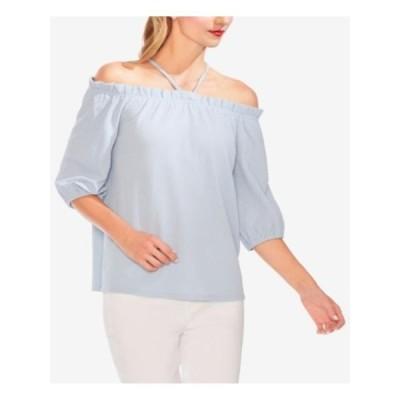 レディース 衣類 トップス VINCE CAMUTO Womens Light Blue 3/4 Sleeve Off Shoulder Top Size: XL ブラウス&シャツ