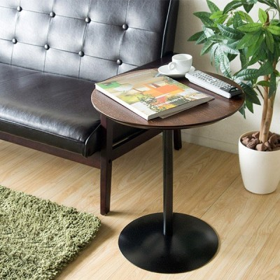 サイドテーブル 円形 ラウンドテーブル Santos サントス ブラウン ナチュラル ソファテーブル ナイトテーブル ST-019