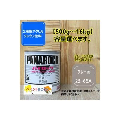 【日塗工 22-65A】グレー系 マンセル 2.5Y6.5/0.5 パナロック 2液型ウレタン塗料 自動車 工業 ロックペイント