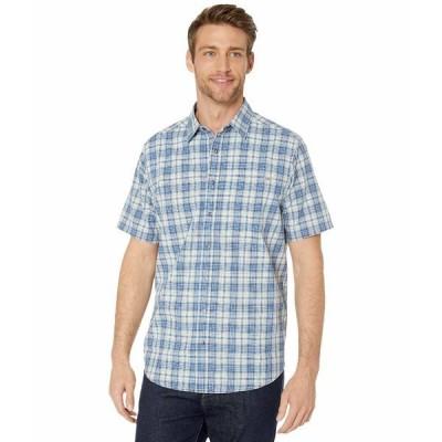 5.11タクティカル シャツ トップス メンズ Hunter Plaid Short Sleeve Shirt Baltic Blue Plaid