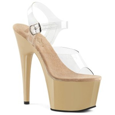 Pleaser ADORE-708 7inch Heel, 2 3/4inch PF Ankle Strap Sandal◆取り寄せ