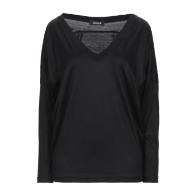ZUCCA T シャツ ブラック M コットン 50% / キュプラ 50% T シャツ