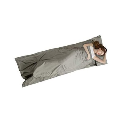 インナーシーツ トラベルシーツ インナーシュラフ 寝袋インナー 3色あり ライナー 208*77cm Eppinn 封筒型 超軽量 (グレー)