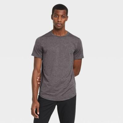 オールインモーション All in Motion メンズ フィットネス・トレーニング トップス Short Sleeve Soft Stretch T-Shirt - Black Heather