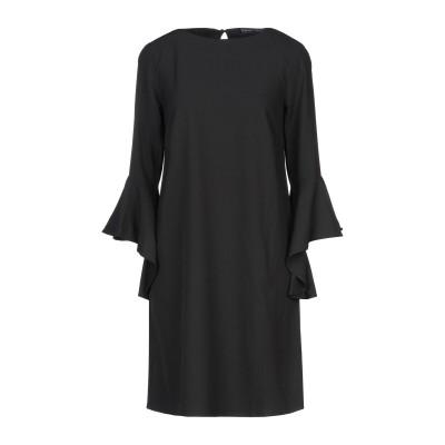 SANDRO FERRONE ミニワンピース&ドレス ブラック S ポリエステル 100% ミニワンピース&ドレス