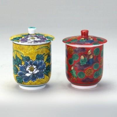 蓋付組湯呑 吉田屋・木米 |米寿 プレゼント 金婚式 陶器 還暦祝い 退職祝 結婚祝い 贈り物 ペア 夫婦 誕生日 プレゼント 古希 喜寿 祝い|