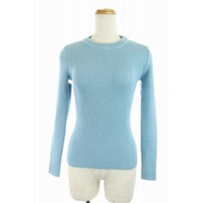 【中古】バレンシアガ BALENCIAGA 18AW ニット セーター 変形 長袖 34 水色 /DF ■OS レディース