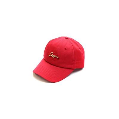 DOPE ドープ カーブドバイザーロゴキャップ フリーサイズ レッド ストラップバックキャップ 24K SCRIPT LOGO CAP -RED-