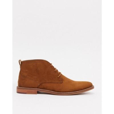 バートン Burton Menswear メンズ ブーツ チャッカブーツ シューズ・靴 Suede Chukka Boots In Tan タン