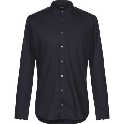 ガッザリーニ GAZZARRINI メンズ シャツ トップス Solid Color Shirt Dark blue
