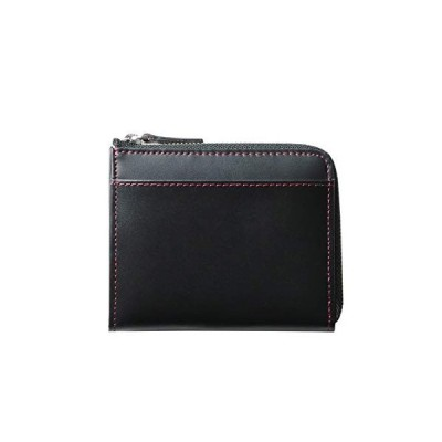 [ディアブロ] DIABLO 折り財布 メンズ 馬革 牛革 L字ファスナー 小さい財布 コンパクト レザーウォレット mlb 【KA-512】 (ブラ