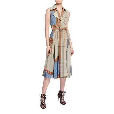 アクリス レディース ワンピース トップス Scarf-Print Trench Dress
