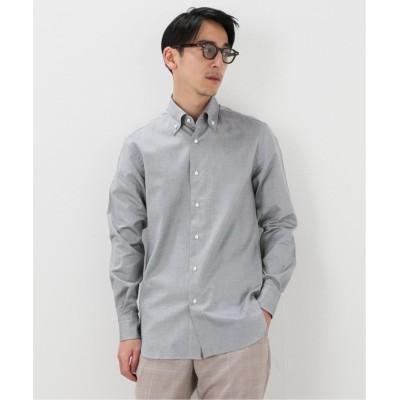 【エディフィス】 ボタンダウン ロイヤルオックス シャツ メンズ ブラックA 38 EDIFICE