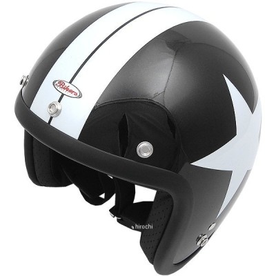 【メーカー在庫あり】 4984679509049 TNK工業 ジェットヘルメット JL-65F ブラックスター フリーサイズ(58-59cm) HD