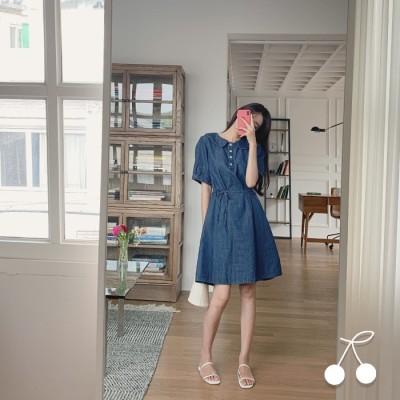 楽なデニムワンピース CHERRYKOKO公式 ハイクォリティー 韓国ファッション✯送料無料✯