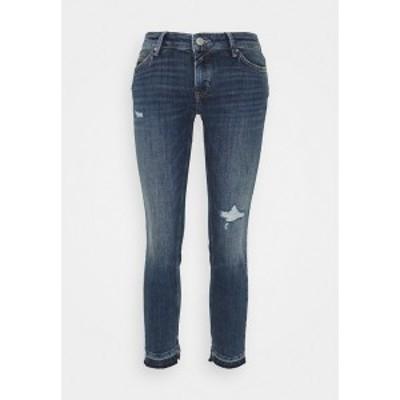 マルコポーロ デニム レディース デニムパンツ ボトムス SIV CROPPED - Jeans Skinny Fit - multi/dark blue crosshatch multi/dark blue