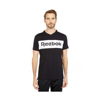 Reebok リーボック メンズ 男性用 ファッション Tシャツ Training Essentials Logo Short Sleeve Graphic Tee - Black