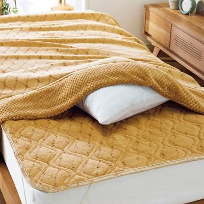 ベルーナインテリア 5つ星機能のあったか軽寝具シリーズ「ファイブスター」 ブラウン 敷パッドシングル レディース