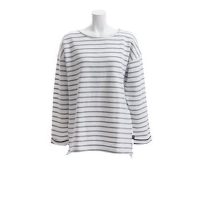 Tシャツ レディース 長袖 ボーダー HU18FCD864538WHT オンライン価格