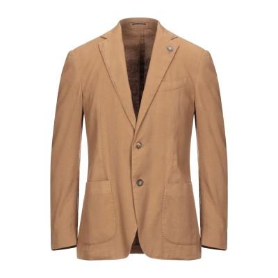 ラルディーニ LARDINI テーラードジャケット キャメル 50 リネン 56% / コットン 42% / ポリウレタン 2% テーラードジャケット