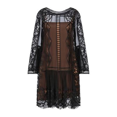 アルベルタ フェレッティ ALBERTA FERRETTI ミニワンピース&ドレス ブラック 38 シルク 100% / レーヨン / ポリエステル