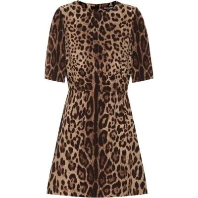 ドルチェ&ガッバーナ Dolce & Gabbana レディース ワンピース ワンピース・ドレス leopard-print wool-crepe dress Leo New