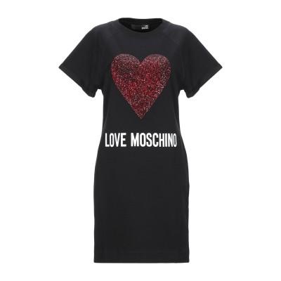 ラブ モスキーノ LOVE MOSCHINO ミニワンピース&ドレス ブラック 38 コットン 92% / ポリウレタン 8% ミニワンピース&ドレス