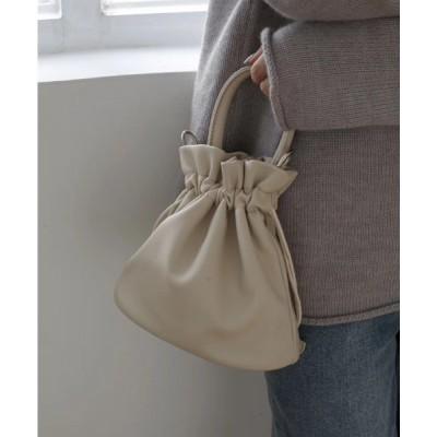 wears / 2way ドローストリングワンハンドルレザーミニバッグ WOMEN バッグ > ハンドバッグ