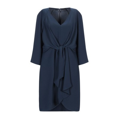 MARIELLA ROSATI ミニワンピース&ドレス ダークブルー 42 ポリエステル 100% ミニワンピース&ドレス