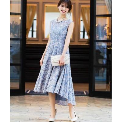 ドレス 総レースフィッシュ&テール結婚式ワンピースドレス