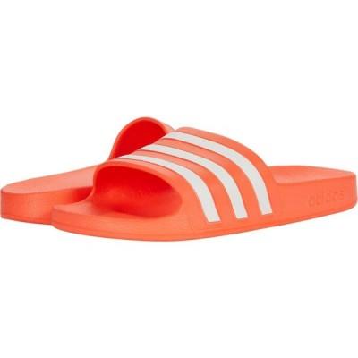 アディダス adidas レディース サンダル・ミュール シューズ・靴 Adilette Aqua Slides Solar Red/White/Solar Red