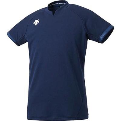 [デサント] 半袖ゲームシャツ 吸汗 速乾 ストレッチ DSS-4024 NVY XO