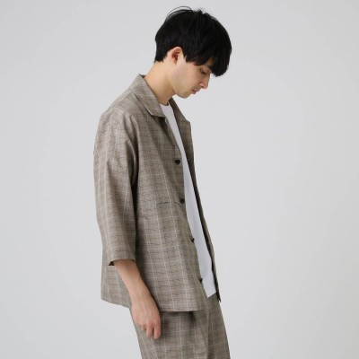 ティーケー タケオ キクチ tk.TAKEO KIKUCHI COOL MAX(R)ポリトロマッキーノシャツ (ベージュ)