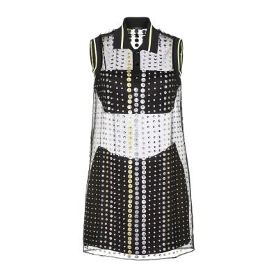 VERSACE ミニワンピース&ドレス ブラック 38 シルク 100% / アセテート ミニワンピース&ドレス