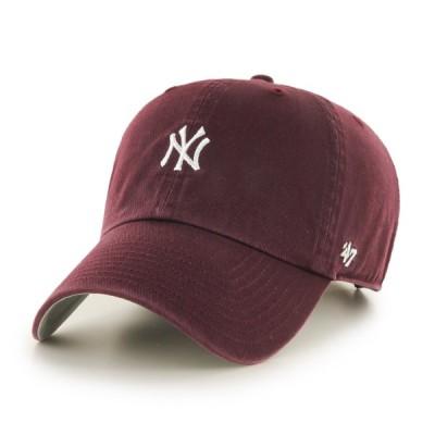 ヤンキース 47 ダークマルーン ミニロゴ フォーティーセブン ベースランナー クリーンナップ キャップ 帽子 メンズ レディース
