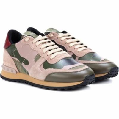 ヴァレンティノ Valentino レディース スニーカー シューズ・靴 garavani rockrunner camouflage sneakers Green