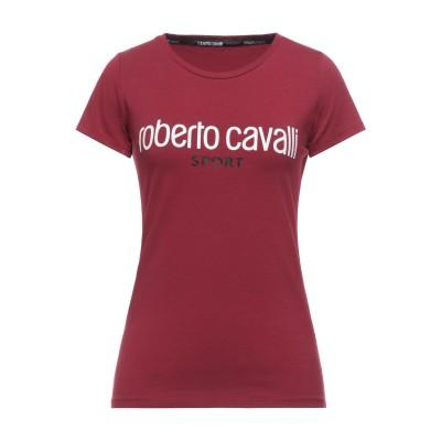 ROBERTO CAVALLI SPORT T シャツ ボルドー L コットン 95% / ポリウレタン 5% T シャツ