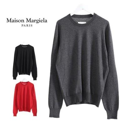 Maison Margiela メゾンマルジェラ エルボーパッチ ウールセーター 肘当て メンズ