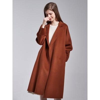 デザインされたゆるさが、女っぽさだけじゃない個性を上乗せ。  ジャケット レディース アウター コート 長袖 ロングコート  チェスターコート こなれ感   秋冬