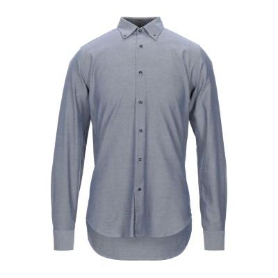 WEBB & SCOTT CO. シャツ ブルーグレー 37 コットン 100% シャツ