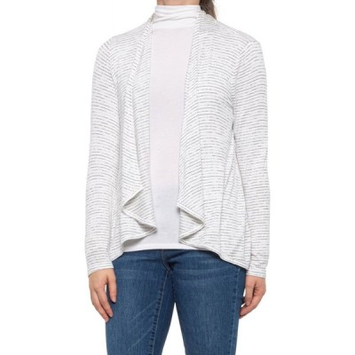 キュピオブラッシ Cupio Blush レディース カーディガン トップス striped cardigan sweater - open front Black White Stripe