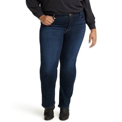 リーバイス デニムパンツ ボトムス レディース Trendy Plus Size 415 Classic Bootcut Jeans Marine Distress