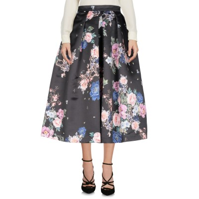 アンナリータ エンネ ANNARITA N 7分丈スカート ブラック 42 ポリエステル 100% 7分丈スカート