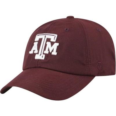 トップオブザワールド Top of the World メンズ キャップ 帽子 Texas A&M Aggies Maroon Staple Adjustable Hat