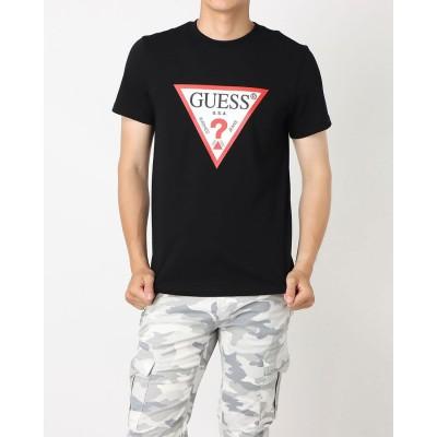 ゲス GUESS Triangle Logo Tee (BLACK)