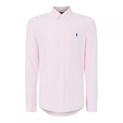 ラルフ ローレン Polo Ralph Lauren メンズ シャツ トップス Polo Button Thru Sht S92 Pink/White