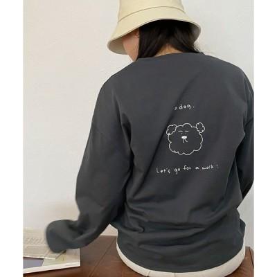 tシャツ Tシャツ Tシャツ ロング バックプリント omom×mimi toujours