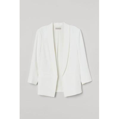 H&M - ストレートスタイルジャケット - ホワイト